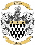 Bunyen Family Crest from Wales