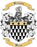 Bunyon Family Crest from Wales