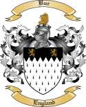 Bur Family Crest from England