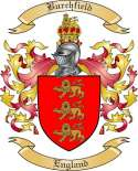 Burchfield Family Crest from England