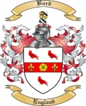 Burd Family Crest from England