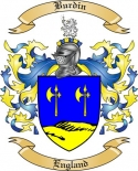Burdin Family Crest from England