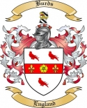 Burds Family Crest from England