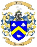 Burg Family Crest from Germany
