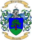 Burgerhoff Family Crest from Germany