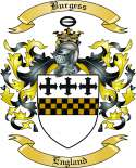 Burgess Family Crest from England2
