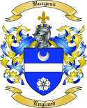 Burgess Family Crest from England