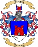 Burgger Family Crest from Germany