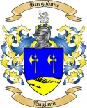 Burghdone Family Crest from England