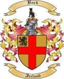 Burk Family Crest from Ireland