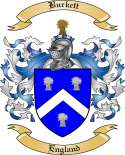 Burkett Family Crest from England