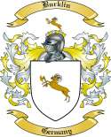 Burklin Family Crest from Germany