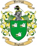 Burleigh Family Crest from England