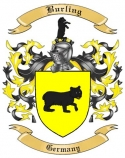 Burling Family Crest from Germany