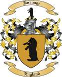 Burnage Family Crest from England