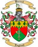 Burnat Family Crest from England