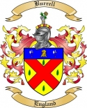 Burrell Family Crest from England
