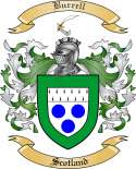 Burrell Family Crest from Scotland