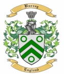 Burrey Family Crest from England