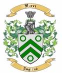 Burri Family Crest from England