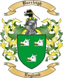 Burrleigh Family Crest from England