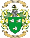 Burrley Family Crest from England