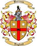 Burrous Family Crest from England