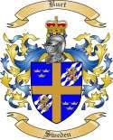 Burt Family Crest from Sweden