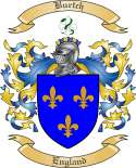 Burtch Family Crest from England
