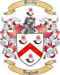 Burtis Family Crest from England