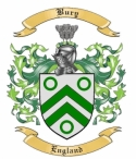 Bury Family Crest from England