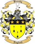 Bussby Family Crest from England