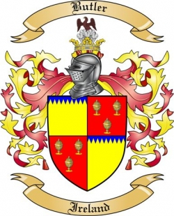 Butler Family Crest From Ireland By The Tree Maker