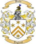 Butte Family Crest from England