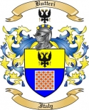 Butteri Family Crest from Italy