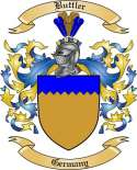 Buttler Family Crest from Germany