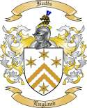 Butts Family Crest from England