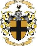 Bylandt Family Crest from Netherlands