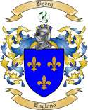 Byrch Family Crest from England
