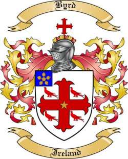 Byrd Family Coat of Arms from Ireland