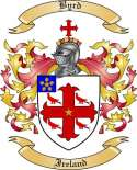 Byrd Family Crest from Ireland