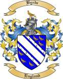 Byrde Family Crest from England2