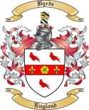 Byrde Family Crest from England