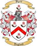 Byrtt Family Crest from England