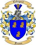Cabagnol Family Crest from France