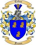 Caban Family Coat of Arms from France
