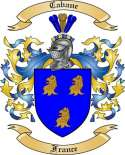 Cabane Family Coat of Arms from France