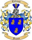 Cabanne Family Coat of Arms from France