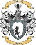 Cabrera Family Coat of Arms from Spain