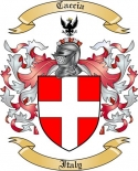 Caccia Family Coat of Arms from Italy